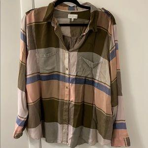 Lucky Brand Button Down flannel (light), 3X, EUC